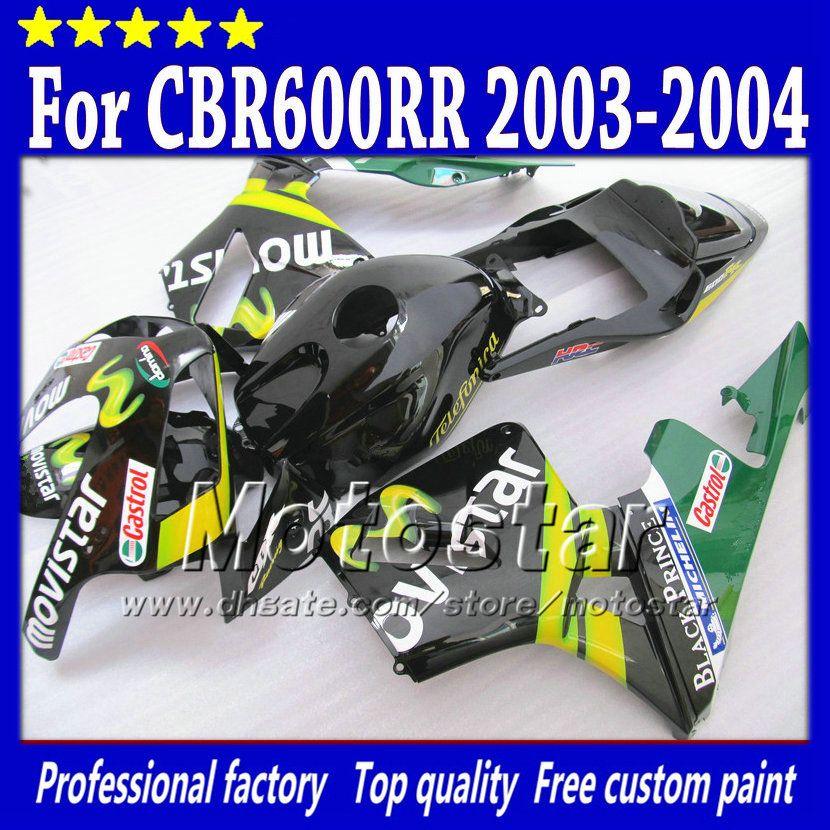 7Gifts injection molding fairings kit for HONDA CBR 600 RR 03 04 CBR600RR F5 2003 2004 road racing abs plastic fairing kits sq41