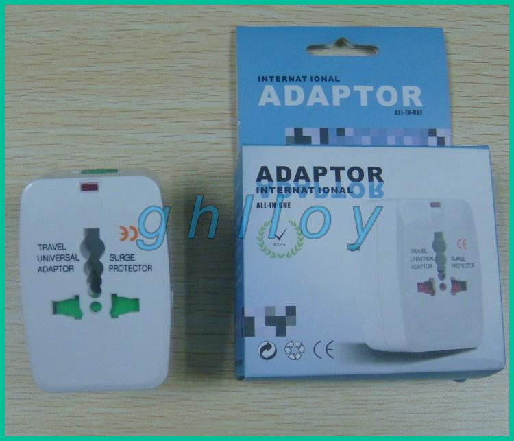 Universal International Plug Adapter Adaptor ALL IN ONE AC Power Plug Travel adaptor 200pcs/lot
