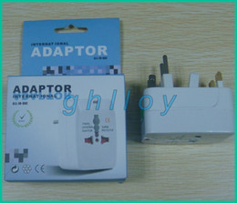 Wholesale Country Uk - US AU EU UK International more than 150 country All In One Travel Adaptor wall adaptor 100pcs lot