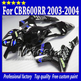 China 7 Gifts injection molding fairings kit for HONDA CBR 600 RR 03 04 CBR600RR F5 2003 2004 Repsol black motorcycle fairing supplier repsol color suppliers