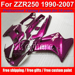zzr fairing set Canada - Racing motorcycle fairing kit for Kawasaki ZZR250 90 91-07 1990- 2006 2007 ZZR 250 ABS all purple plastic bodywork set with 7 gifts tp14