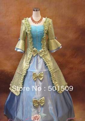 Navio livre Medieval Renascentista Vestido rainha Vestido trajes de dança Traje Gótico Vitoriano Lolita / Marie Antoinette / guerra civil / Colonial Belle Ball
