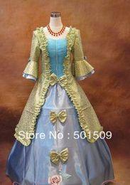 Wholesale Gothic Victorian Lolita Dresses - Free ship Medieval Renaissance Gown queen Dress stage dance Costume Victorian Gothic Lolita Marie Antoinette civil war Colonial Belle Ball