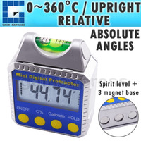 Wholesale High Accuracy Inclinometer - 810-100SS High Accuracy Digital Bevel Box   Inclinometer   Protractor with Spirit Level Built-in Magnetic Base & Always Upright LCD