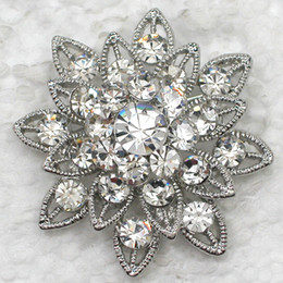 $enCountryForm.capitalKeyWord Canada - Wholesale Crystal Rhinestone Wedding Party Prom Flower Fashion Costume Pin Brooch C132