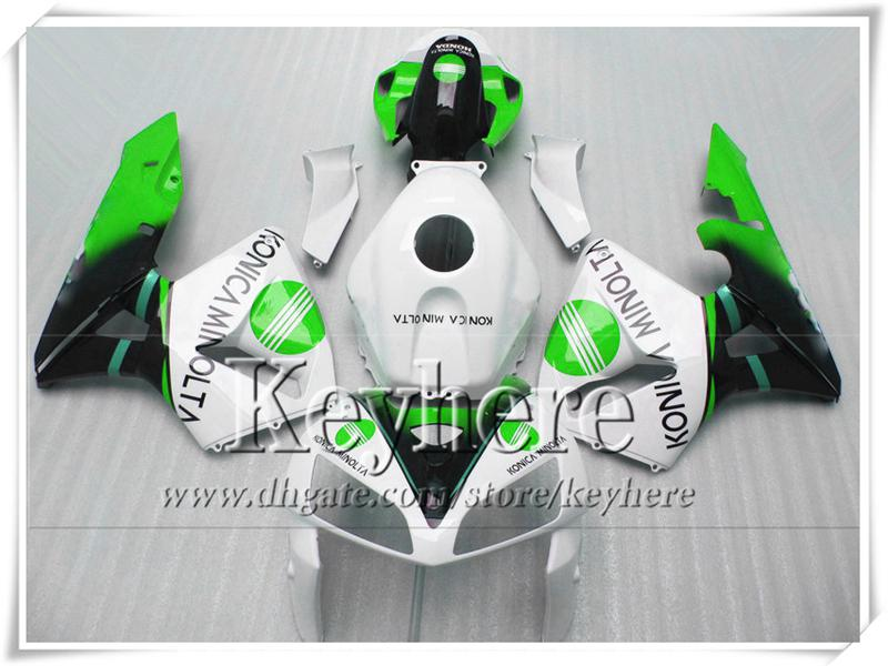 Carenados de motocicleta Inyección para HONDA CBR600RR 05 06 CBR 600RR F5 2005 CBR-600RR 2006 blanco verde negro conjunto de carrocería con 7 regalos Yr10