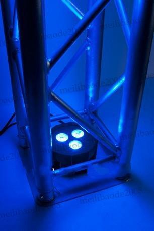 Aparato de lavado Ultra brillante plano RGBAW par 38 con 3ps * 15w RGBAW-Tint-5- 5-en-1 RGBAW Leds MYY5213