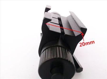 Tactische Rode Laser Sight Scope met Barrel Mount 20mm Picatinny Rail