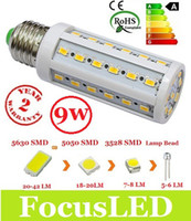 Wholesale Cheapest B22 Led - Cheapest High Power 110-240V 9W Led Corn Bulb Light E27 E14 B22 High Quality Warm Cool White 5630 SMD Led Spot Downlight 360 Angle