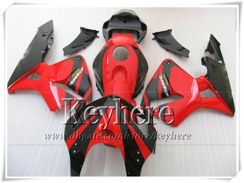 Freeship carene rosso nero CBR-600RR 2005 2006 Honda Injection F5 parti moto CBR600RR 05 CBR 600RR 06 con 7 regali Yr45