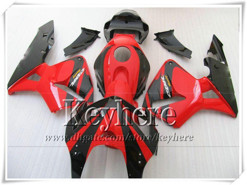FreeShip Red Black Fairing Bodykits voor CBR-600RR 2005 2006 Honda Injectie F5 Motobike Parts CBR600RR 05 CBR 600RR 06 met 7 geschenken YR45
