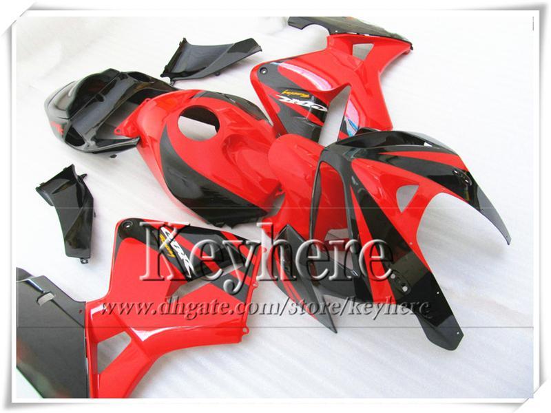 Freeship vermelho preto carenagem bodykits para CBR-600RR 2005 2006 Honda injeção F5 motobike peças CBR600RR 05 CBR 600RR 06 com 7 presentes Yr45