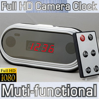 Wholesale Digital Camcorder 12 - Fashion Full HD 1080P Mirro Digital Clock mini DVR Alarm Hidden Camera HDMI Mini camcorder 12 hours recording Multifunction