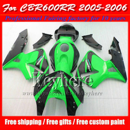 Freeship verde nero carenature per CBR-600RR 2005 2006 Honda Injection F5 parti per moto CBR600RR 05 CBR 600RR 06 con 7 regali Yr48