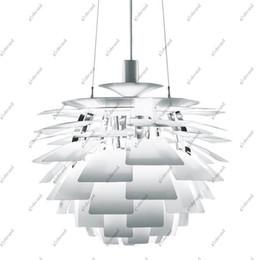 Wholesale Artichoke Lamp Silver - 50CM Poul Henningsen PH Artichoke Ceiling Light Pendant Lamp GHJC81