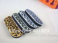 Wholesale Leopard Nail Buffer Wholesale - buffer nail file 20PCS LOT leopard print buffer shine file for nail art nail care Manicure kits FREE SHIPPING #BF02501