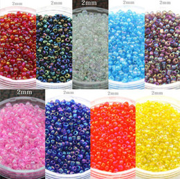 Wholesale 2mm Spacer Beads - 2mm 50g lot 9 colors choice ashion Colourful Czech DIY Loose Spacer glass seed beads garment accessories&jewelry findings