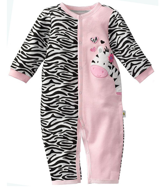 top popular First Moments Retail 1pcs Zebra Baby Rompers Baby Girl's Pajamas Baby Clothes Newborn Sleepwear Bodysuits One-piece Romper W121 2019