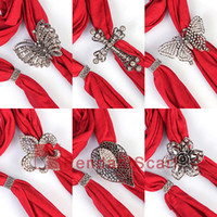 12PCS LOT Top Fashion 6 Designs Mixed DIY Pendant Scarf Magn...