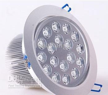 18W Unterputz-Deckenleuchte Downlight AC 85-265V Warmweiß Naturweiß Kühlweiß Nicht dimmbar mit 18 LEDs Energiesparlampen