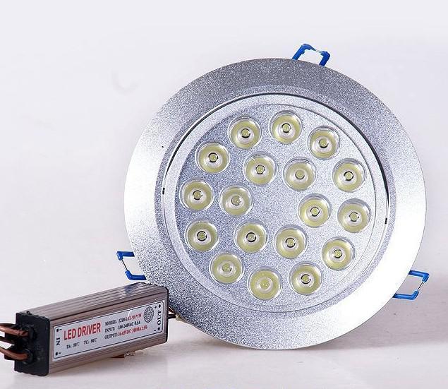 18W Montaje empotrado Foco empotrable LED de techo AC 85-265V Blanco cálido Blanco natural Blanco frío No regulable con 18 LED Lámparas de foco de bajo consumo