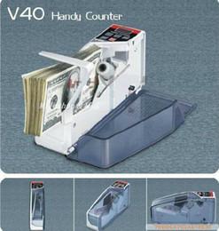 Wholesale Money Counts - wholesale Mini V40 Portable Bill Cash Handy Money Currency Counter Counting Machine V40 Handy Counter money counting machine