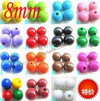 Wholesale Chunky Beads 8mm - 800pcs lot Mixed Color Solid color GUMBALL Chunky 8MM Big Chunky Bubblegum Acrylic Solid Beads ,Colorful Chunky Beads Jewelry