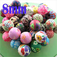Wholesale Polymer Clay Flowers For Jewelry - 200pcs lot 8MM Enviromental AAA Quality Mixed Color Mixed Color Polymer Clay Beads,Loose Clay Flower Beads for Jewelry making
