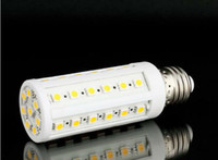Wholesale E14 44 Led - 5050 SMD LED Corn Light E27 E14 B22 8W 44 Corns Bulb Lights Lamp CE ROSH 2 Years Warranty Warm white Cool white Lighting 40pcs lot- Express