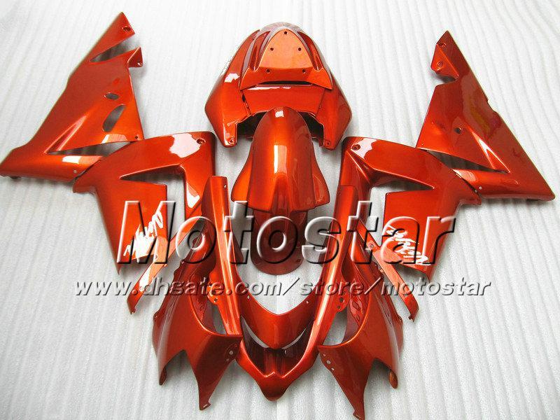 7 Geschenke Verkleidungen Body Kit für Kawasaki Ninja ZX-10R 2004 2005 ZX10R 04 05 ZX 10R alle glänzend orange rot Aftermarket Verkleidung sw21