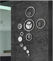 Free delivery 3D mirror wall stickers DIY fashion Wall Clock special gift a beautiful home furnishing decoration