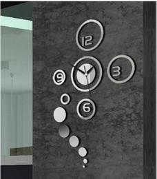 Home bella orologi online-Gli adesivi murali specchio 3D consegna gratuita fai da te moda orologio da parete regalo speciale una bella decorazione d'arredo casa