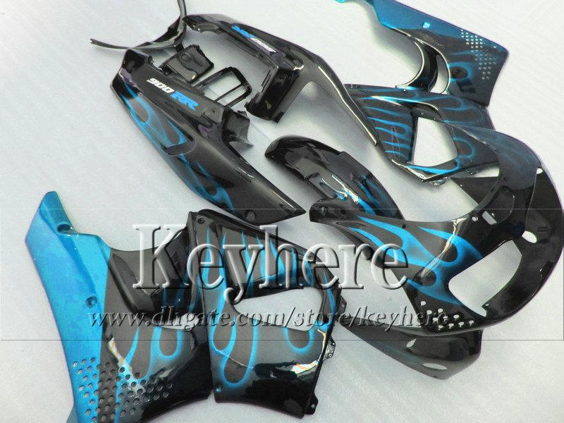 선물 7 개 무료! 혼다 용 블랙 페어링 바디 키트의 푸른 불꽃 1996 1997 CBR900RR 893 오토바이 부품 CBR 900RR 96 CBR900 97 hb15
