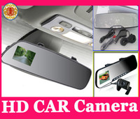 Wholesale Rear View Mirror Lcd Screen - HD Car DVR Car Camera recorder 1080p 2.7 inch LCD Screen Rear View Mirror Video Camera Free Shipping