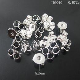 серьги пробки Скидка Beadsnice серьги спины латунь серьги выводы Оптовая серьги гайки пробка pad размер 5x5 мм ID 9070