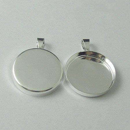 20mm silver plated