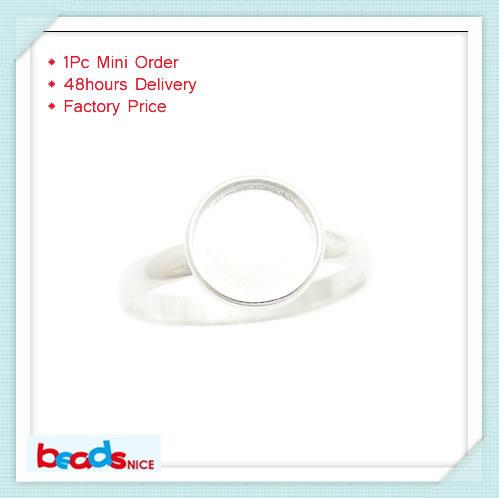 Beadsnice ID26604 pure 925 modern silver ring wholesale top quantity silver ring base round cabochon ring setting