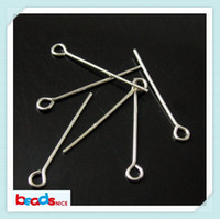 Wholesale Eye Pins For Jewelry - Beadsnice 925 sterling silver headpins eye pins for jewelry making silver accessories diy jewelry findings ID 3807
