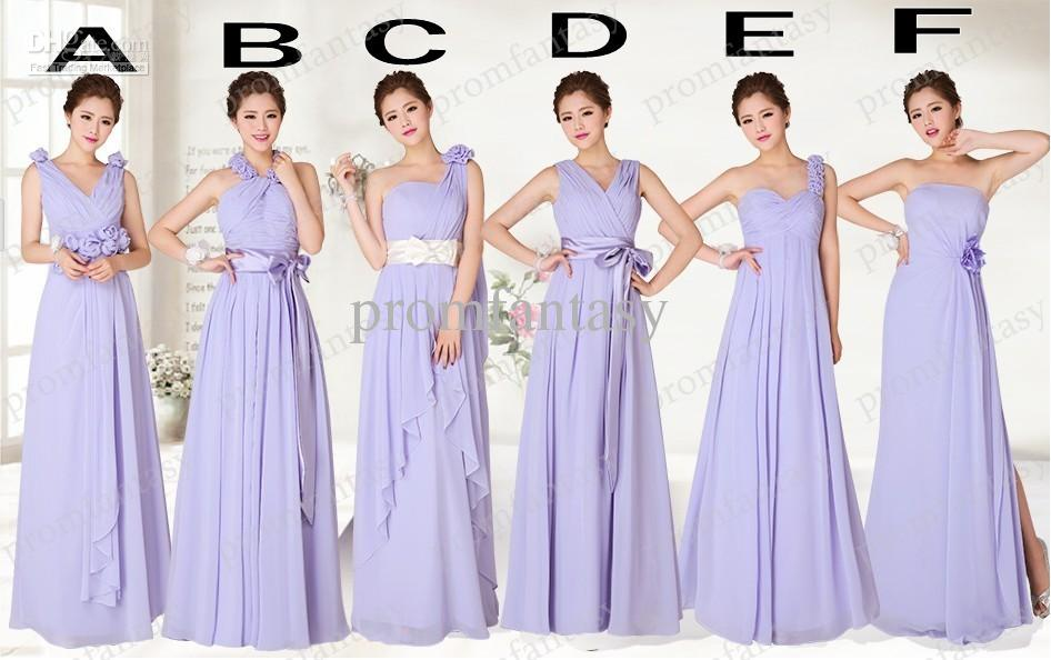 buy good entire collection info for Alternative Lavender Bridesmaid Dresses Long Multi Style Actual Images A  Line Beautiful Cheap Beach Bridal Party Dresses For Girls African  Bridesmaid ...