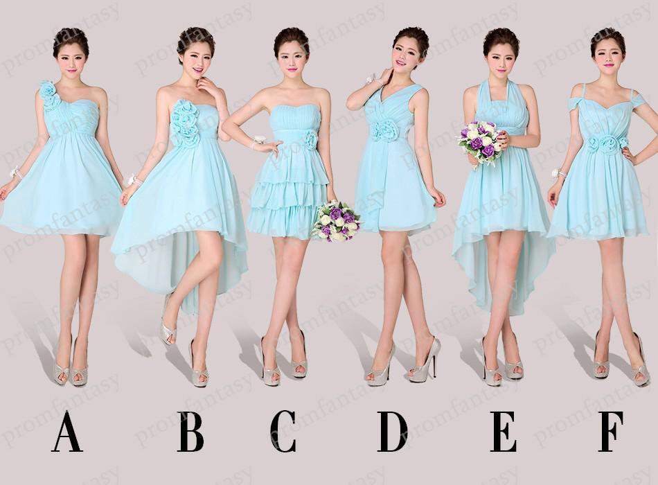 Alternative Short Light Blue Chiffon Bridesmaid Dresses 2013 Newest ...