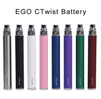 Wholesale Double Stem - 650mah,900mAh,1100mah EGO-CTwist e cigarette Battery Double Stem Voltage Adjustable Electronic Cigarette EGO-C Twist