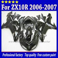 carenados de zx blanco al por mayor-7 Regalos carenados de carrocería para Kawasaki Ninja ZX-10R 2006 2007 ZX10R 06 07 ZX 10R todo el conjunto de carenado personalizado blanco brillante sw76