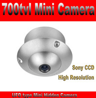 Wholesale Effio P Mini - Hidden mini Camera 700tvl 1 3' Sony CCD Effio-E UFO Type Covert Camera 3.6mm Lens mini Size Lightweight Free Shipping