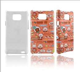 Wholesale Diy 3d Sublimation Case - DIY 3D sublimation blanks case for Galaxy S2 I9100 case free shipping 500pcs lot