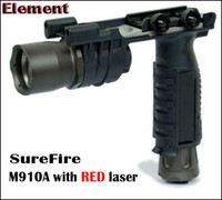 Tactical CREE LED M910A Flashlight with Picatinny Weaver Mount Foregrip & Flashlight Combined BK