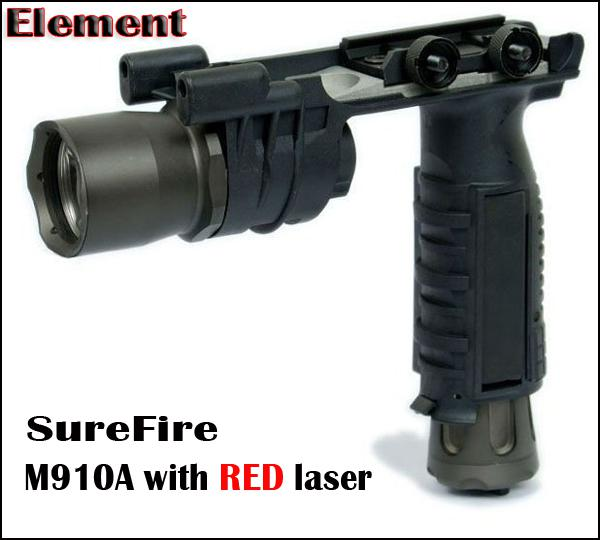 Tactical CREE LED M910A Torcia con Picatinny / Weaver Mount Foregrip Torcia combinata BK