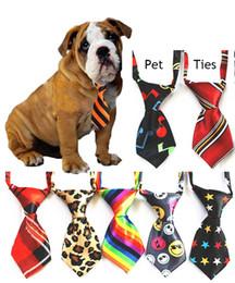 2019 gafas de plástico para perros Corbatas para mascotas Corbata ajustable Corbata de lazo para perros Ropa para perros Accesorios para mascotas en stock Puede elegir color