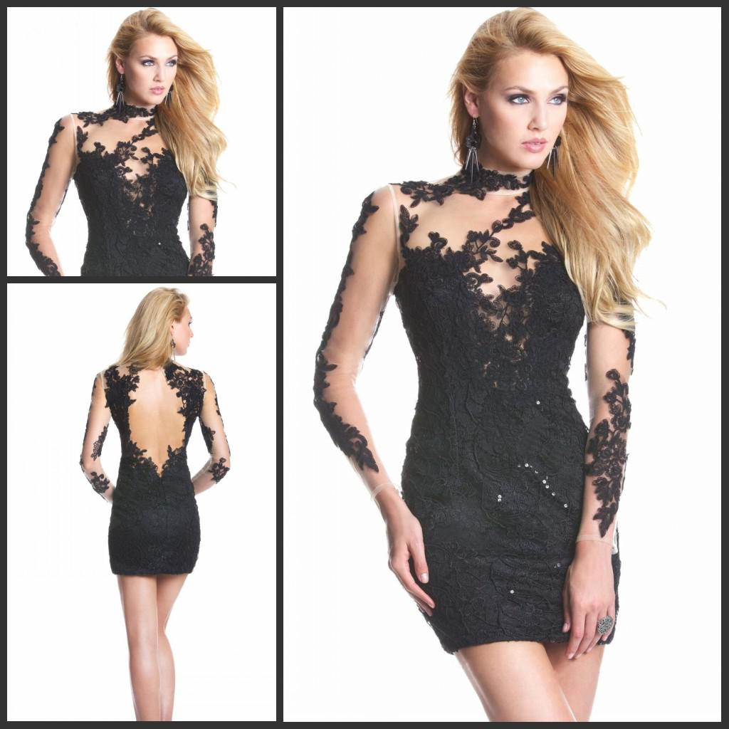 party dresses black lace Sexy