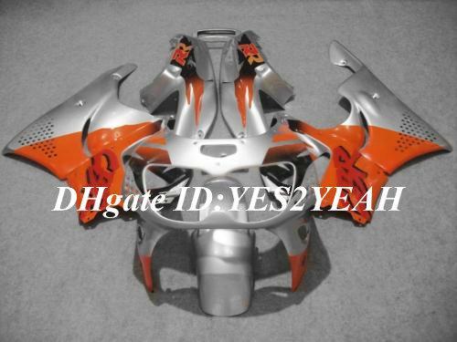 Fairing Kit voor Honda CBR900RR 96 97 CBR 900RR CBR900 CBR 900 RR 893 1996 1997 Oranje Silver Backings Body Kit + 7Gifts HX24