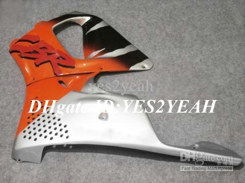 Kit de carenado para HONDA CBR900RR 96 97 CBR 900RR CBR900 CBR 900 RR 893 1996 1997 naranja plata Carenados kit de cuerpo + 7dias Hx24